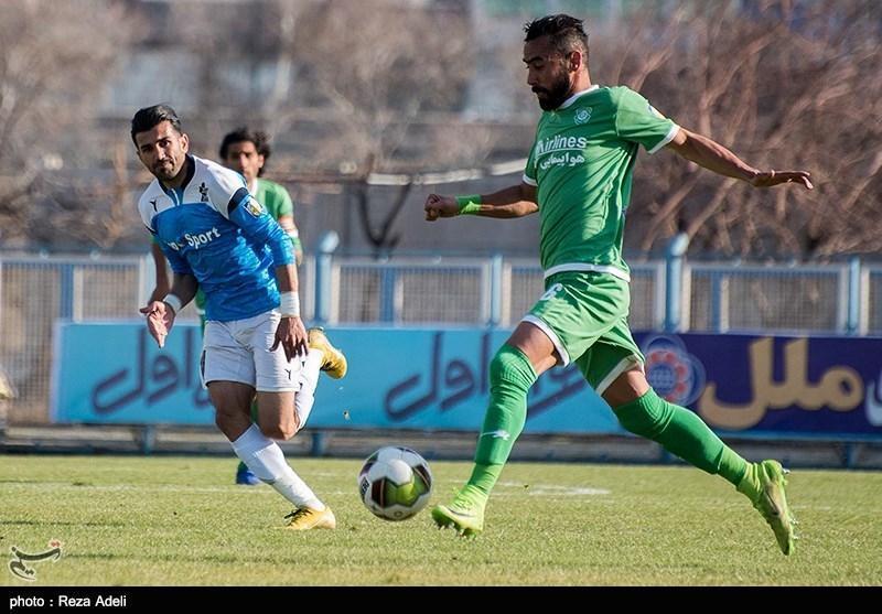 لیگ برتر فوتبال، ماشین سازی و نساجی با تساوی به رختکن رفتند