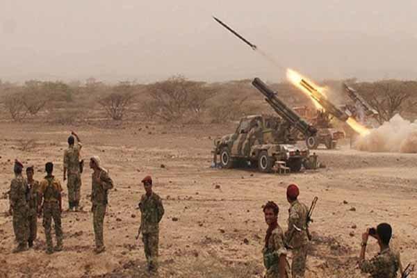 مواضع متجاوزان سعودی هدف شلیک موشک بالستیک زلزال 1یمن