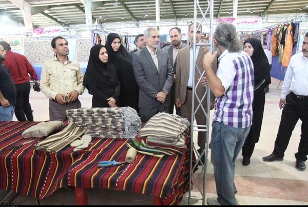 یازدهمین نمایشگاه سراسری صنایع دستی در کرمانشاه افتتاح شد