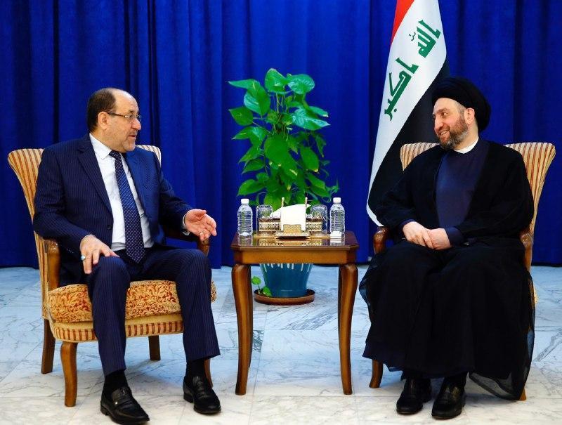حکیم در دیدار با مالکی: مذاکره راه چاره مسائل منطقه است