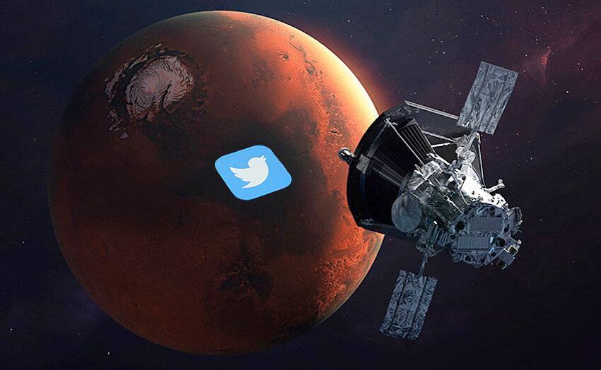 اولین توئیت از طریق فضا