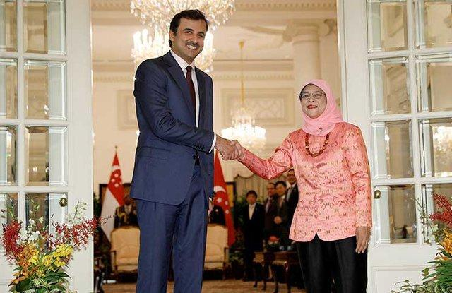 سفر امیر قطر به سنگاپور و اندونزی