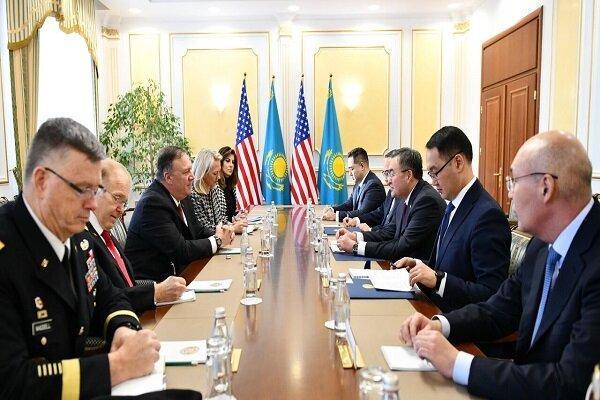سفر پمپئو به نورسلطان و ملاقات با وزیر خارجه قزاقستان