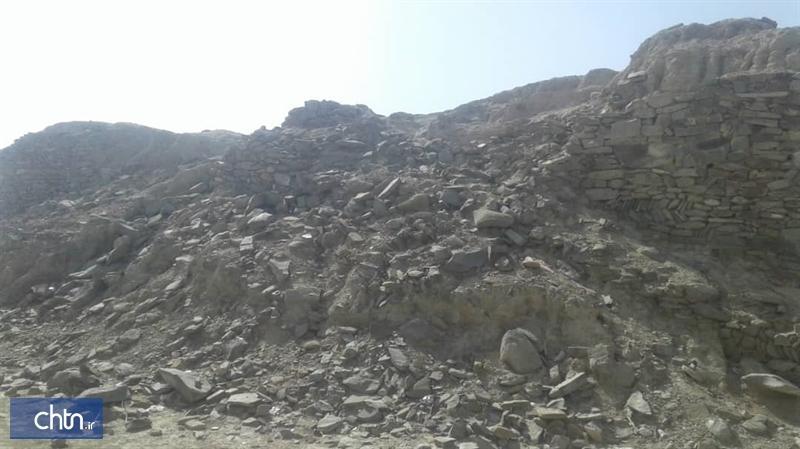 خسارت زلزله به قلعه پیشین راسک در شهرستان سرباز