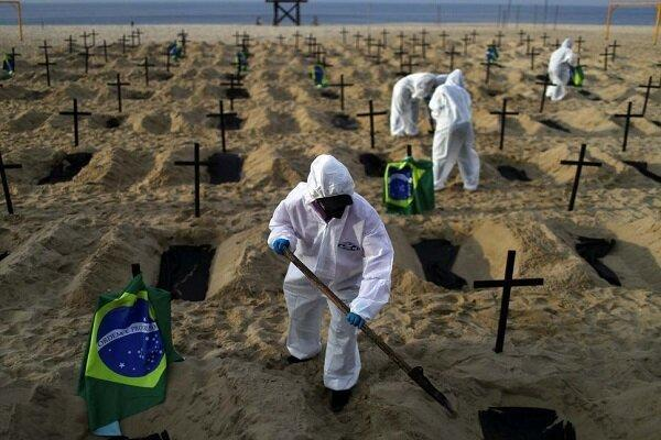 شمار قربانیان کووید-19 در برزیل به 107 هزار و 879 نفر رسید