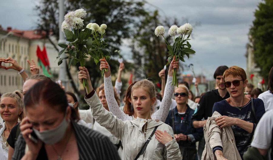 عکس روز ، اعتراض به آخرین دیکتاتور اروپا