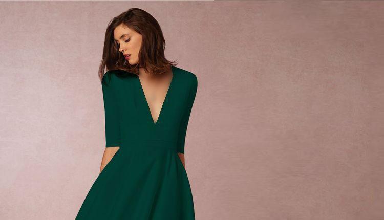 30 مدل لباس مجلسی سبز