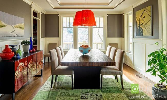 راهنمای انتخاب فرش و قالی زیبا مناسب زیر میز ناهارخوری