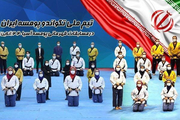 17 مدال پومسه روهای ایران در رقابتهای قهرمانی آسیا