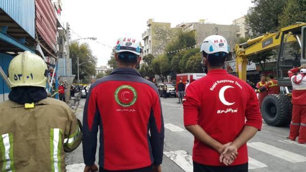 خبرنگاران ریزش مرگبار یک پروژه عمرانی در تهران