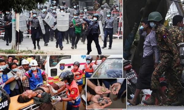 واکنش غرب به کشته شدن دو تن در اعتراضات میانمار