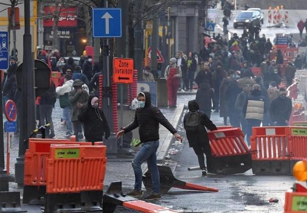 اعتراضات ضدنژاد پرستی در بلژیک به خشونت کشیده شد خبرنگاران