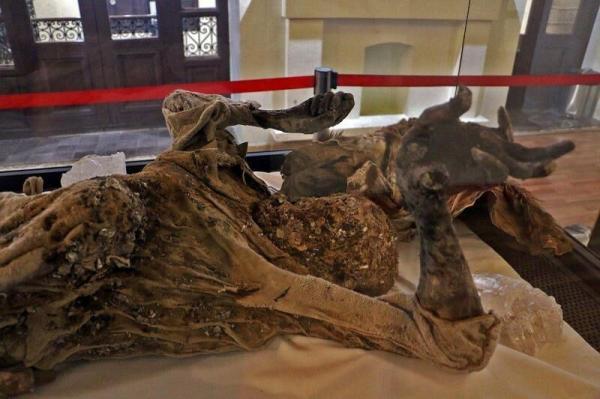 خبرنگاران مردان نمکی، مومیایی های 2هزار ساله در موزه باستان شناسی زنجان