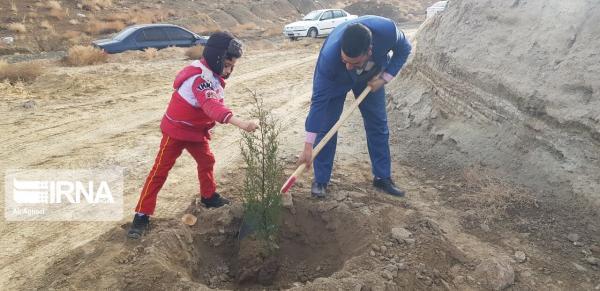 خبرنگاران 210 نهال یادبود شهدا در پیست صحرانوردی همدان غرس شد
