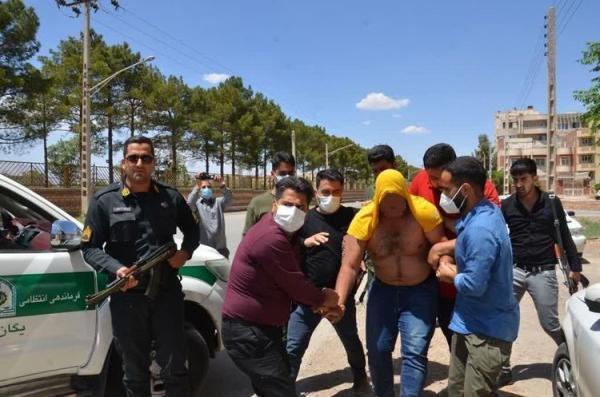 خرس شرور در کرمان بازداشت شد