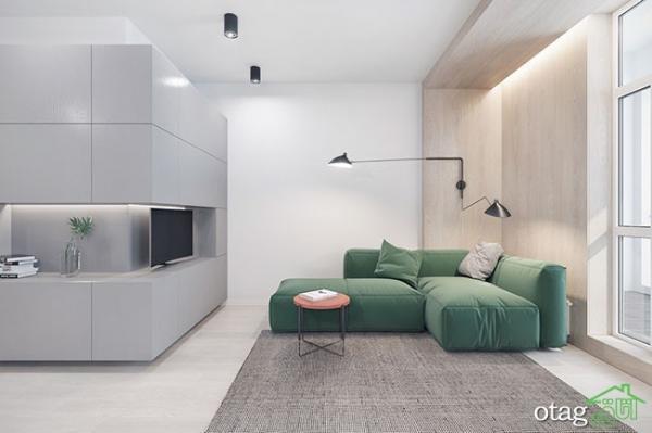 آنالیز دکوراسیون داخلی سه دستگاه آپارتمان شیک کوچک و زیبا